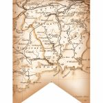 Partylark Printables: Antiqued-Map Of Ireland On Banner Flag, For - Printable Map Banner