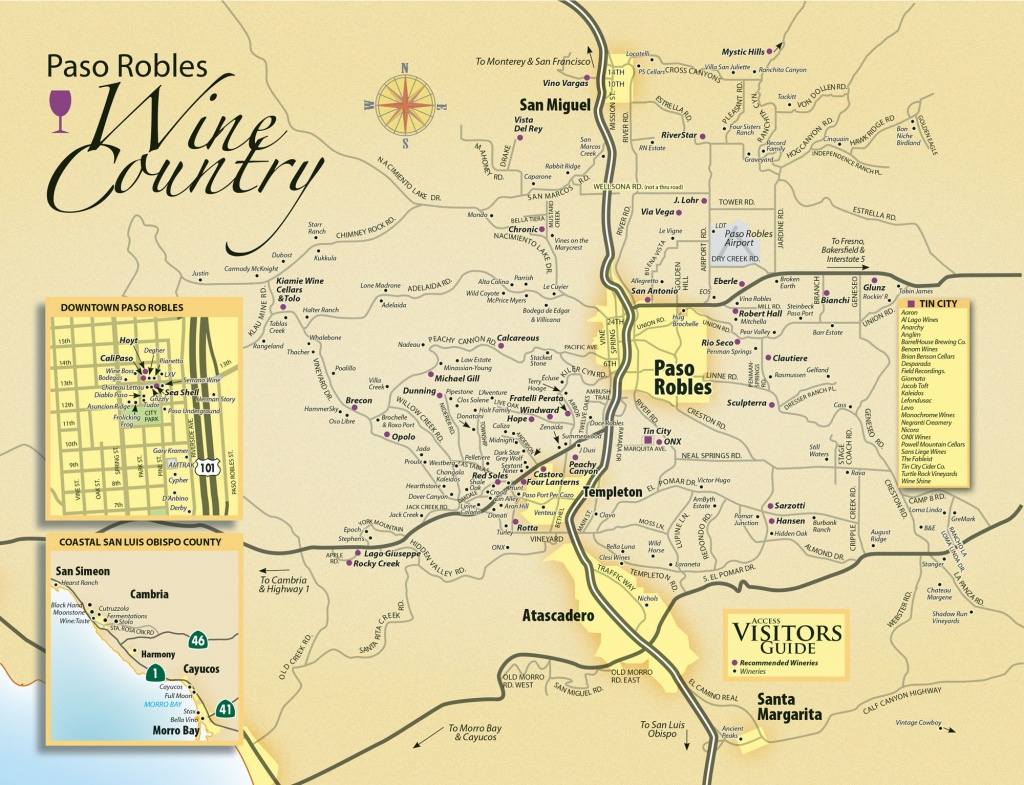 Paso Robles Wine Tasting Map - Paso Robles Daily News - California Mid State Fair Map