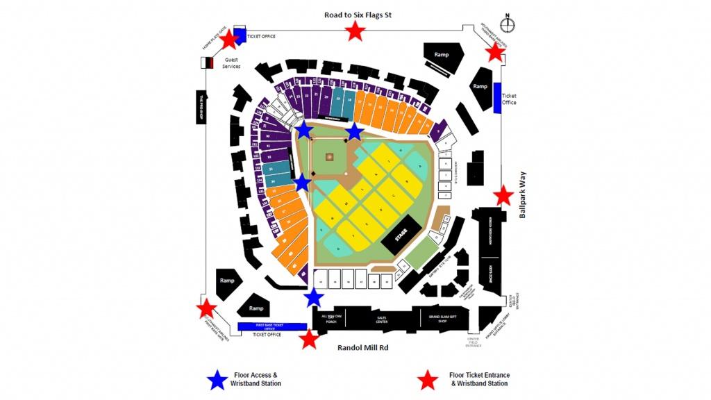 Paul Mccartney At Globe Life Park | Texas Rangers - Texas Rangers Parking Map 2018