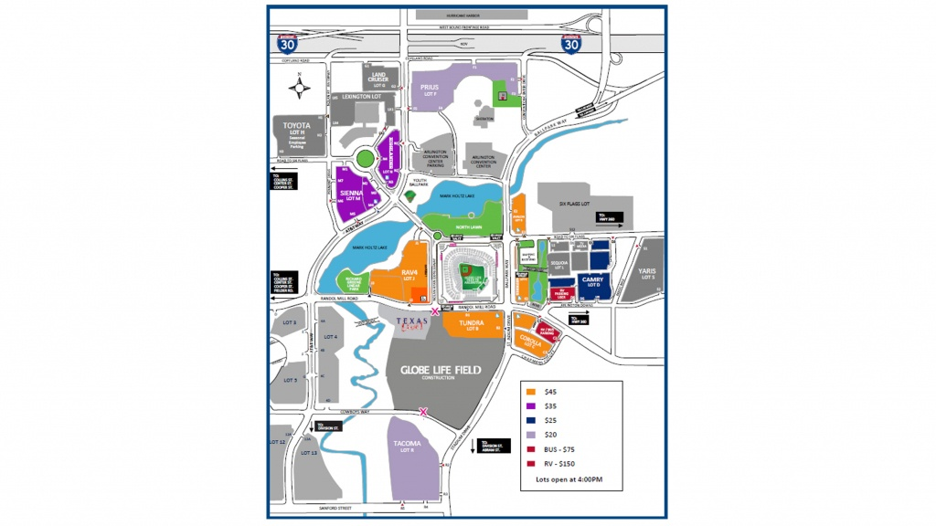Paul Mccartney At Globe Life Park | Texas Rangers - Texas Rangers Season Ticket Parking Map