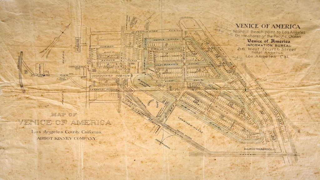 Paved Streets Near California's Venice Beach Were Once Canals - Map Of Venice California Area