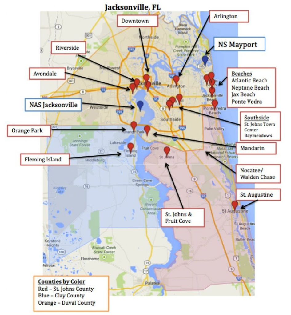 Pcsing To Jacksonville And Mayport Can Be Difficult Because It Is - Map Of Hotels In Jacksonville Florida