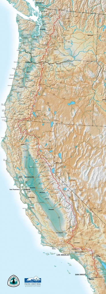 Pct Maps - Northern California Hiking Map