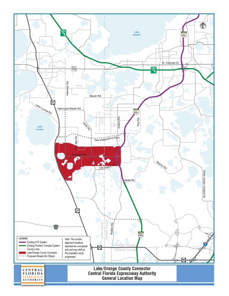 Pd&e Study - Lake/orange County Connector   Central Florida - Orange Lake Florida Map