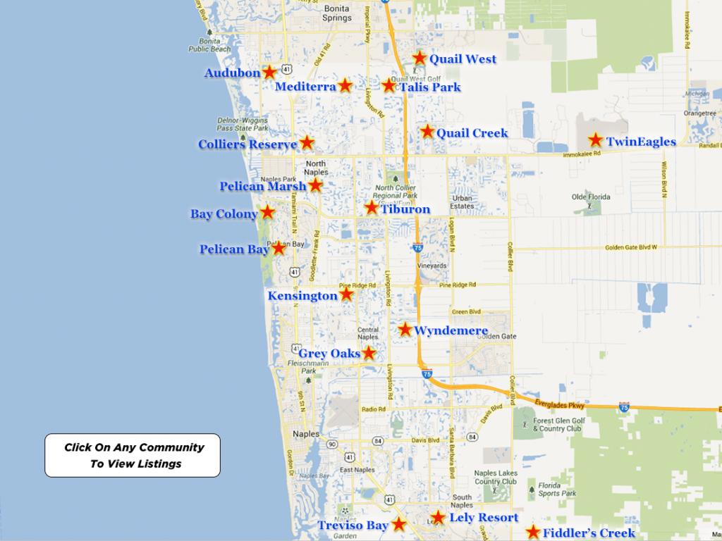 Pelican Marsh Real Estate For Sale - Vanderbilt Beach Florida Map