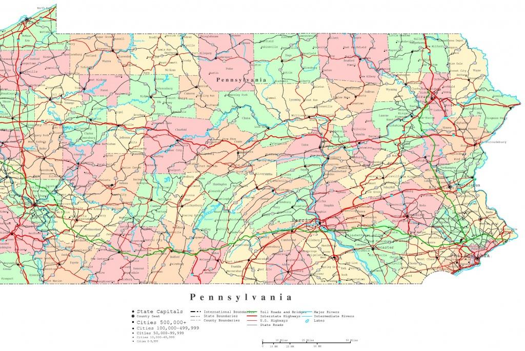 Pennsylvania Printable Map - Pa County Map Printable