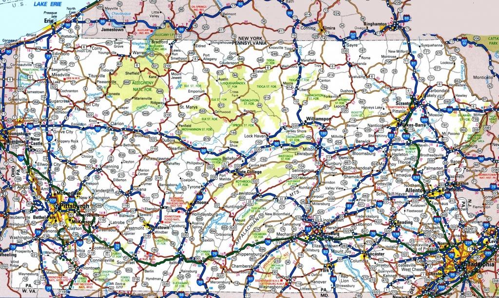 Pennsylvania Road Map - Printable Map Of Pennsylvania