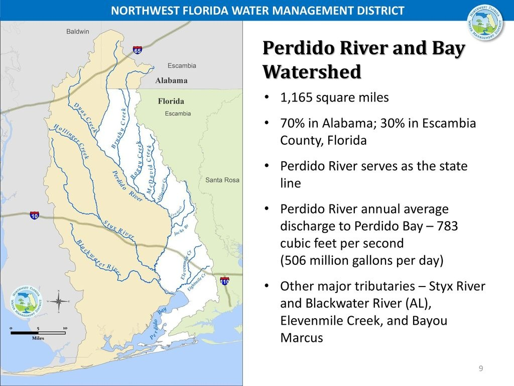Perdido River And Bay Watershed January 10, Ppt Download - Northwest Florida Water Management District Map