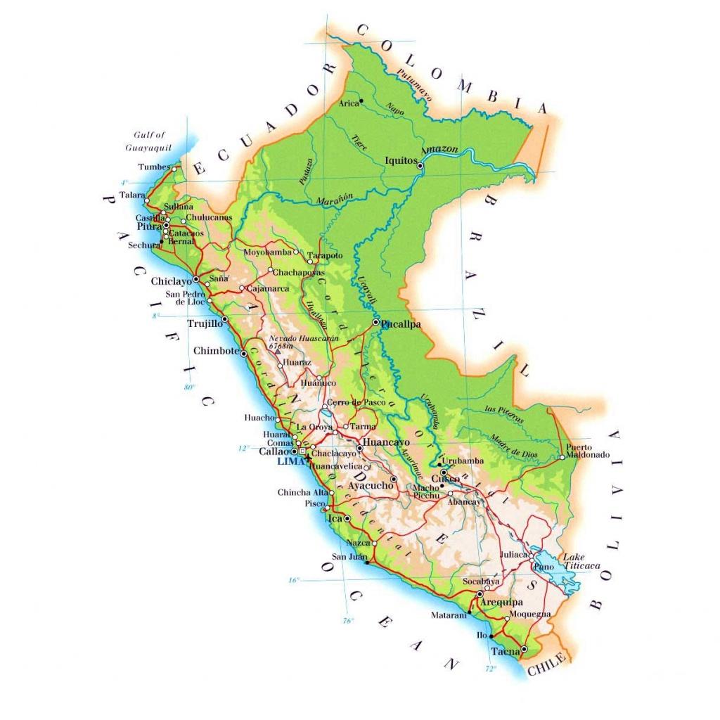 Peru Maps | Printable Maps Of Peru For Download - Printable Map Of Peru