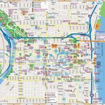 Philadelphia Downtown Map   Philadelphia Tourist Map Printable