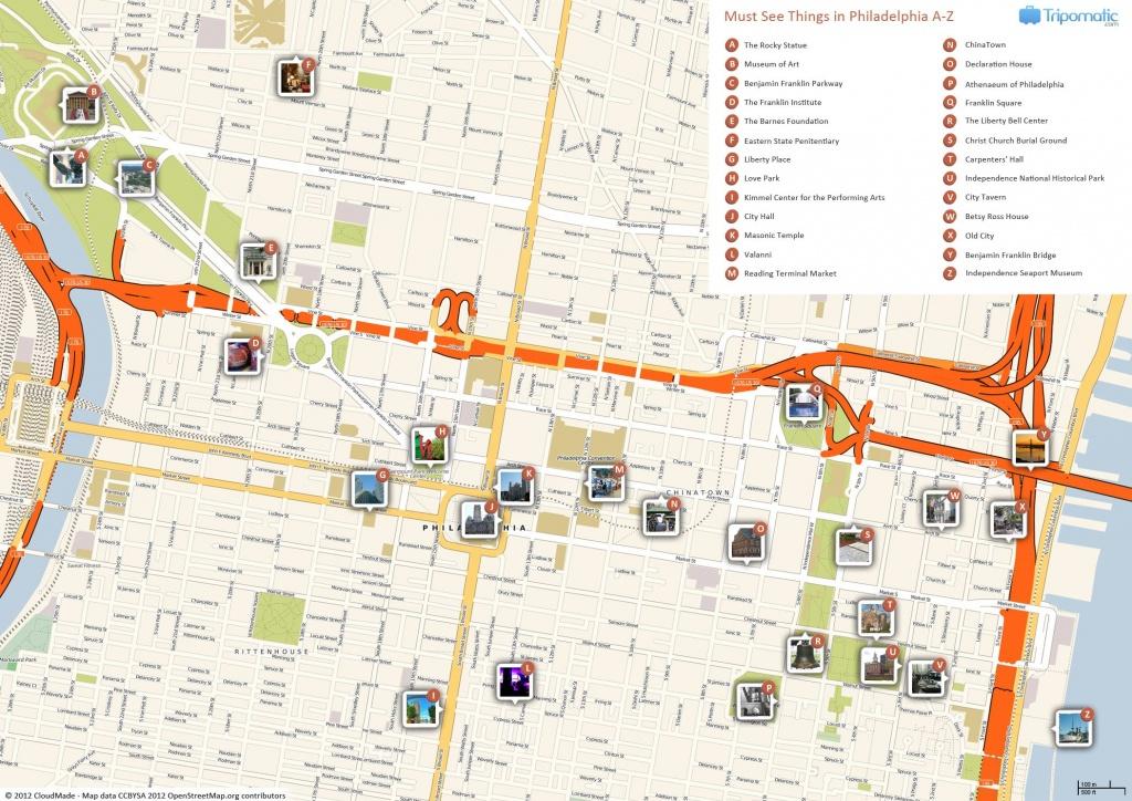 Philadelphia Printable Tourist Map In 2019 | Free Tourist Maps - Printable Map Of Historic Philadelphia
