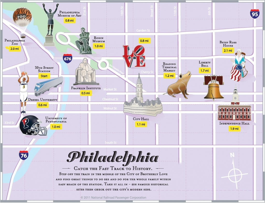 Philadelphia Tourist Attractions Map - Philadelphia Tourist Map Printable