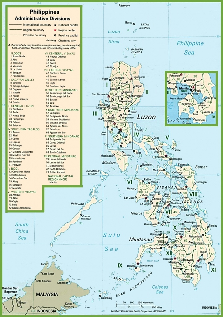 Philippines Political Map - Free Printable Map Of The Philippines