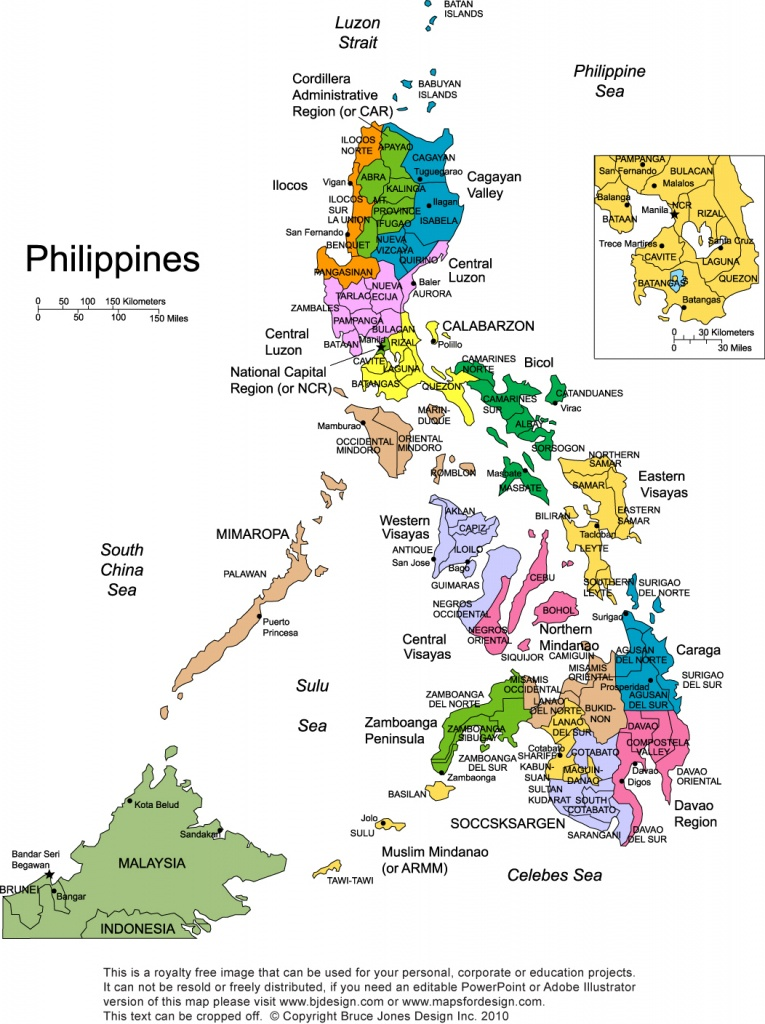 Philippines Printable, Blank Maps, Outline Maps • Royalty Free - Free Printable Map Of The Philippines