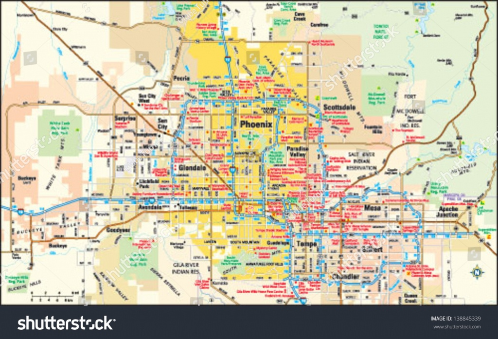 Phoenix Arizona Area Map Image Vectorielle De Stock (Libre De Droits - Phoenix Area Map Printable
