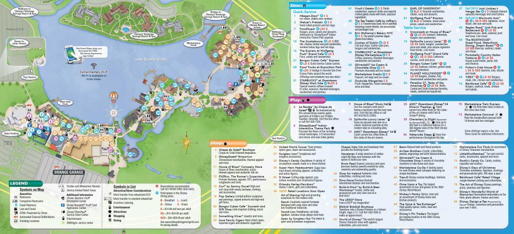 Photos - New Downtown Disney Guide Map Includes Disney Springs Name - Springs Map Florida