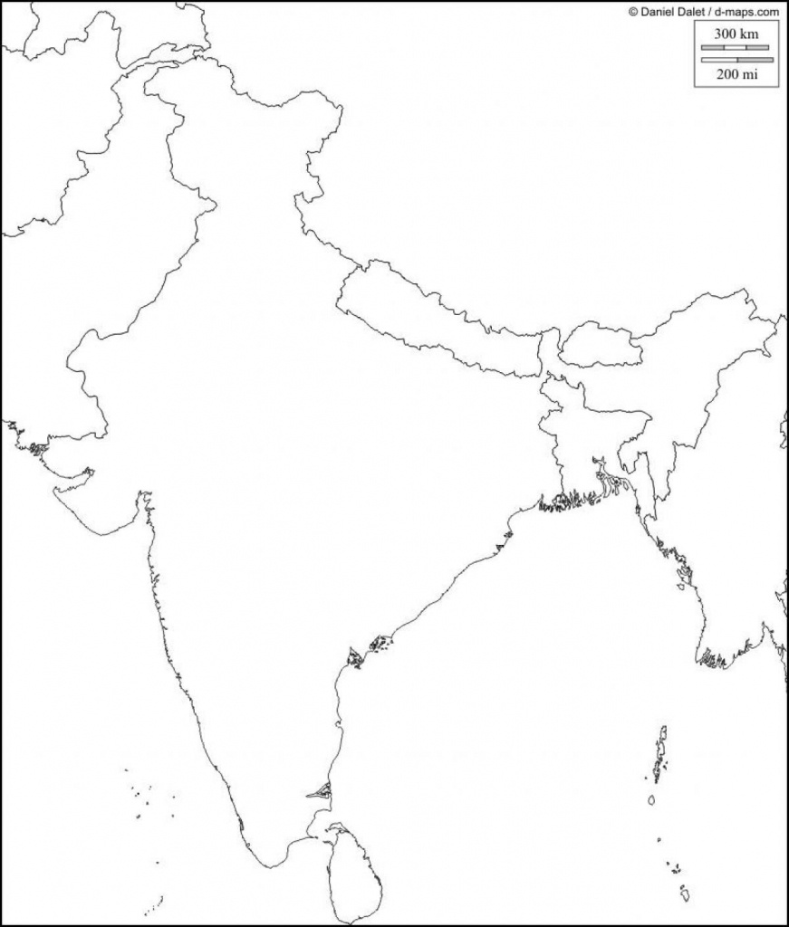 Physical Map Of India Blank Southern Within South Asia 9 - World - Physical Map Of India Outline Printable