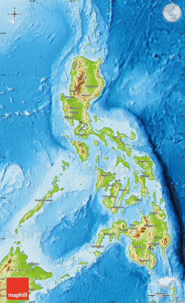 Physical Map Of Philippines - Free Printable Satellite Maps
