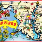 Pictorial Travel Map Of Maryland   Printable Map Of Maryland