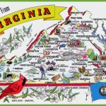 Pictorial Travel Map Of Virginia   Printable Map Of Virginia