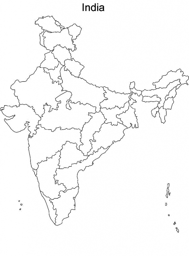 Pin4Khd On Map Of India With States In 2019 | India Map, India - Map Of India Blank Printable