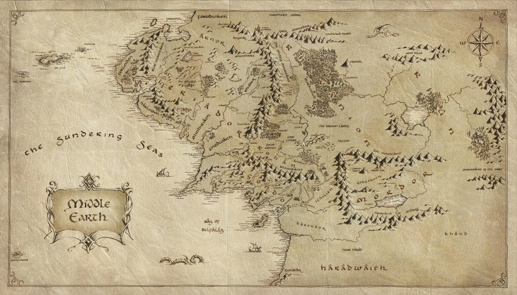 Pinanna Husch On Maps In 2019 | Middle Earth Map, The Hobbit Map - Printable Lord Of The Rings Map