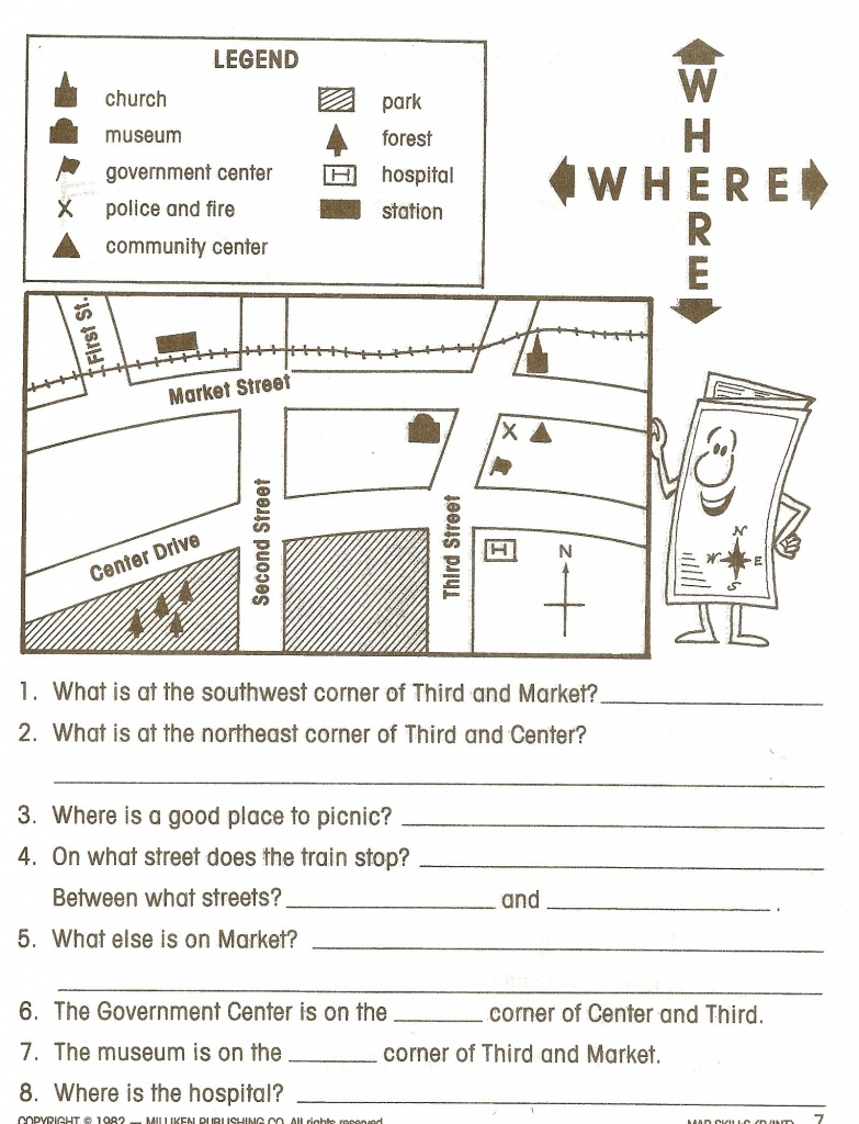 Pincaissey Adams On Directions | Map Worksheets, Social Studies - Free Printable Weather Map Worksheets