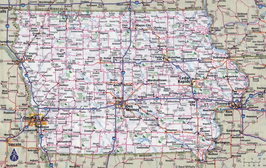 Pincatherine O. On Iowa | Highway Map, Iowa State, Highway Road - Printable Iowa Road Map