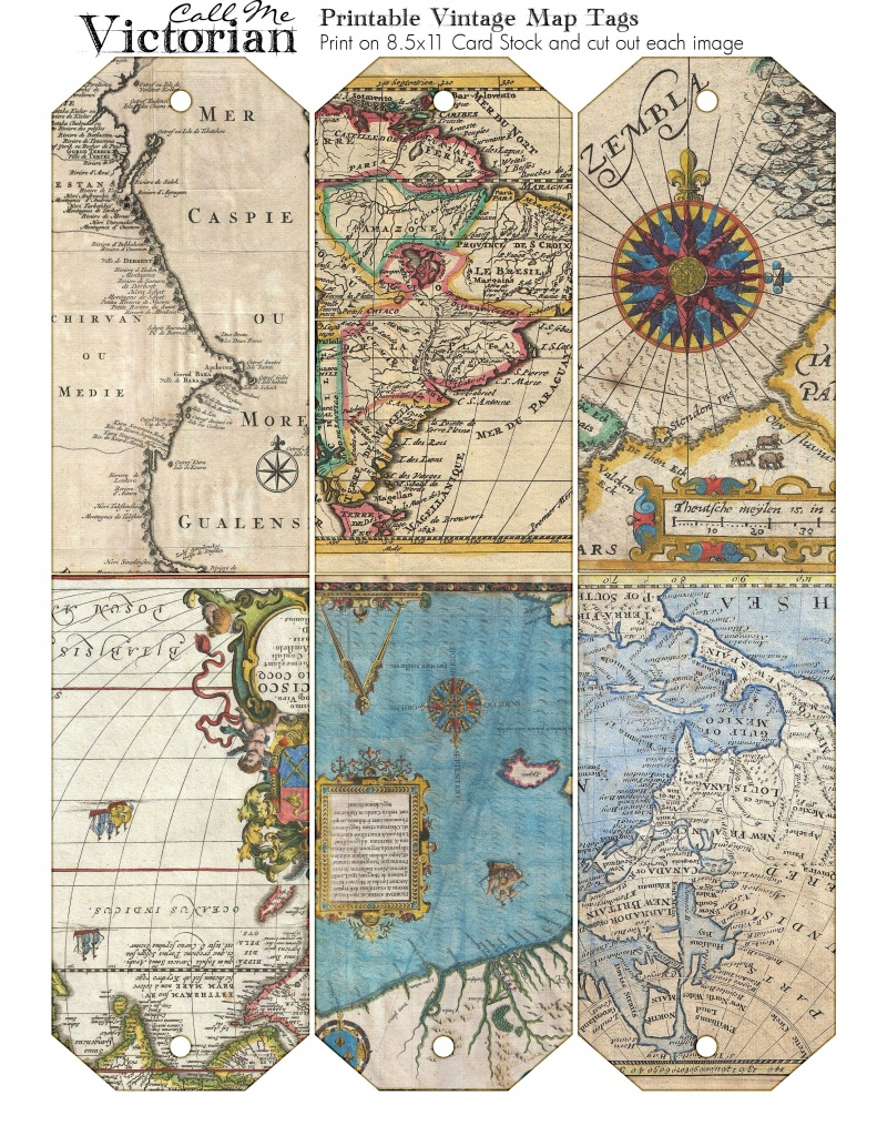 Pincathy Ainsworth On Printables | Vintage Maps, Vintage Tags - Free Printable Travel Maps