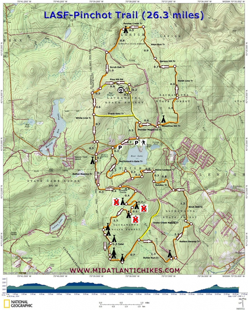 Pinchot Trail - Printable Hiking Maps