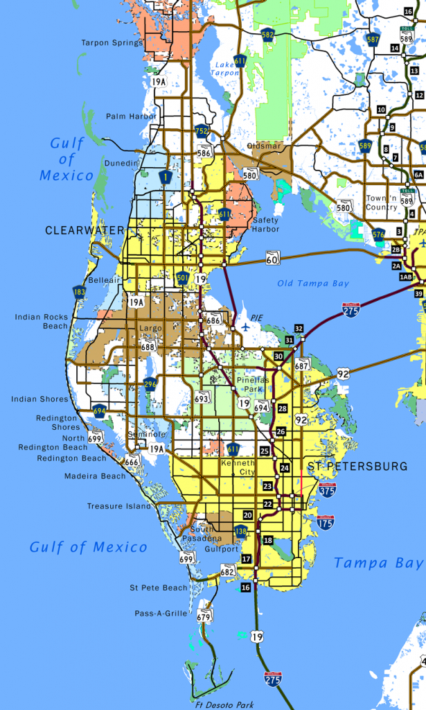 Pinellas County - Aaroads - Indian Shores Florida Map