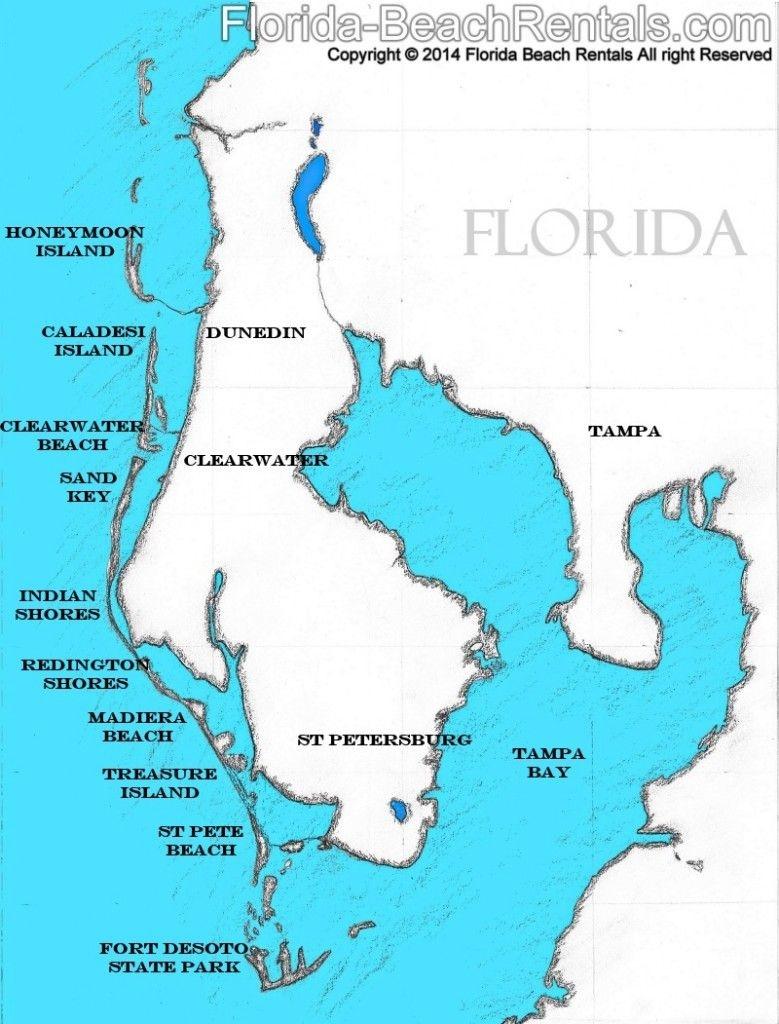 Pinellas County Florida Map, #florida #map #pinellascounty   Talk Of - Honeymoon Island Florida Map