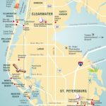 Pinellas County Map Clearwater, St Petersburg, Fl | Florida - Clearwater Beach Map Florida