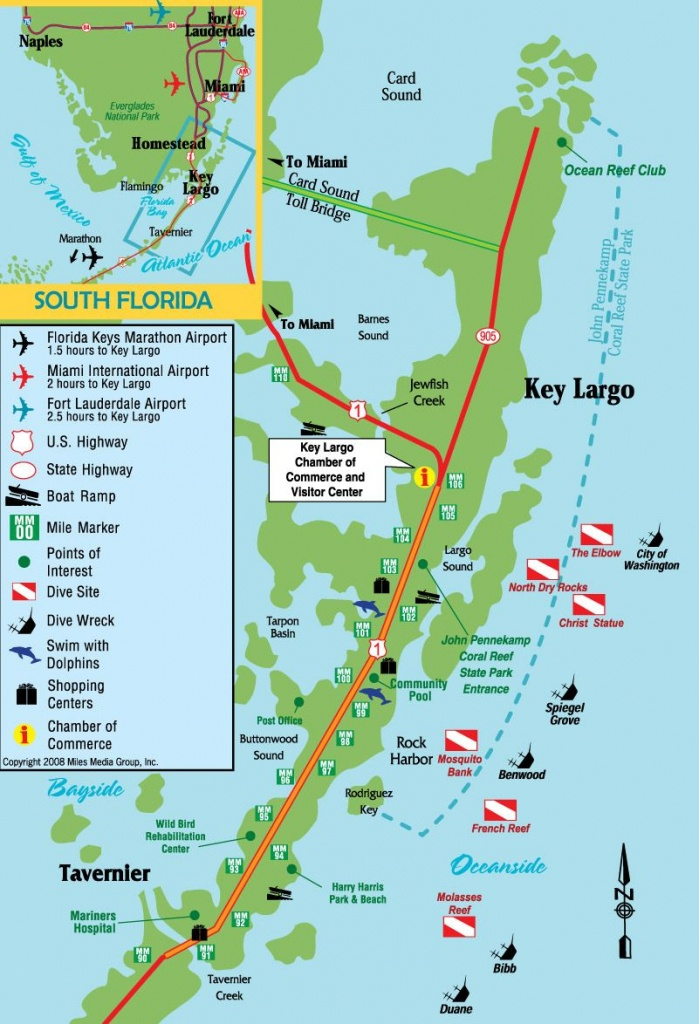 Pinjohn Kovach On The Sea & From The Sea | Key Largo Florida - Florida Keys Map Of Beaches