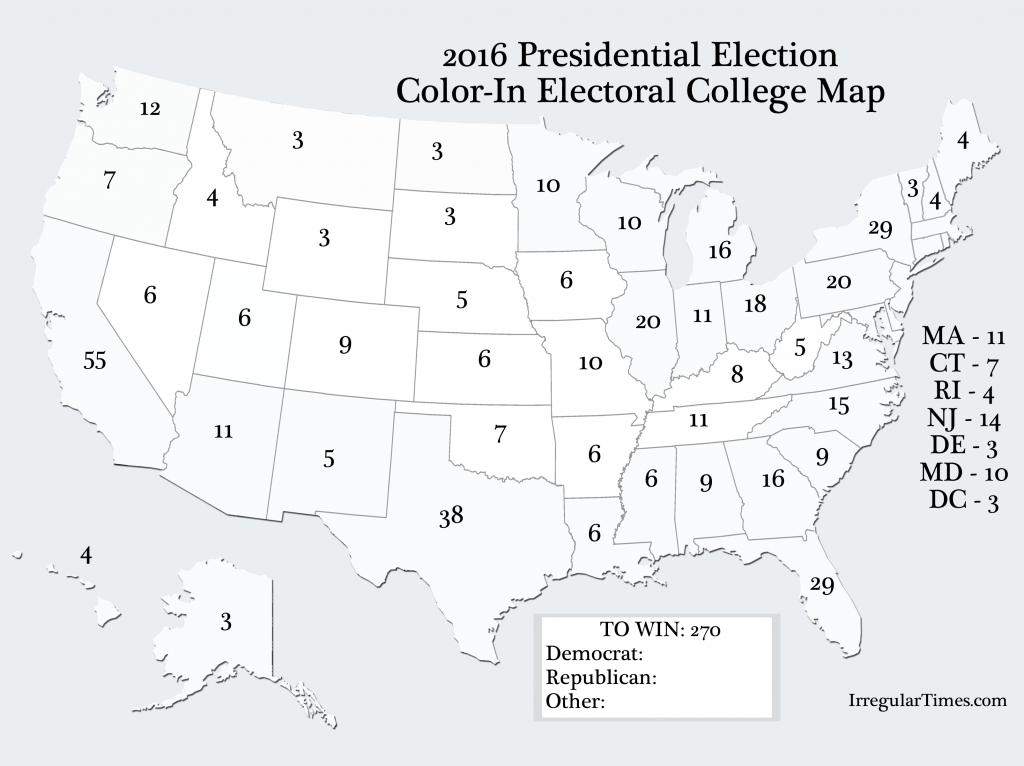 Pinlawren Roulier Casagrande On Election Party   Us Map - Blank Electoral College Map 2016 Printable