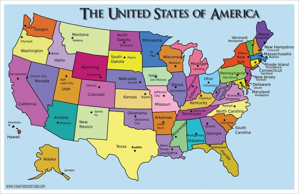 Pinlydia Pinterest1 On Maps | States, Capitals, United States - Printable Us Map With States And Capitals