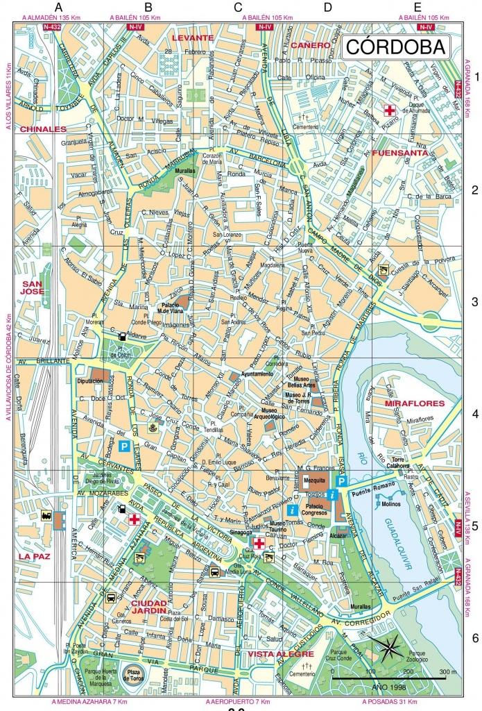 Pinmarkquine On Cordoba In 2019 | Map, Cordoba, Cordoba Spain - Printable Street Map Of Granada Spain