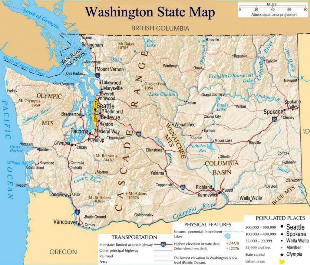 Pinsaitama On Map | Washington State Map, Washington Map - Printable Map Of Washington State