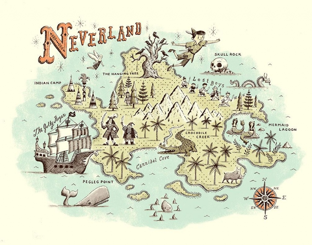 Pinsarah Leslie-Watkins On Baby | Neverland Map, Peter Pan - Neverland Map Printable