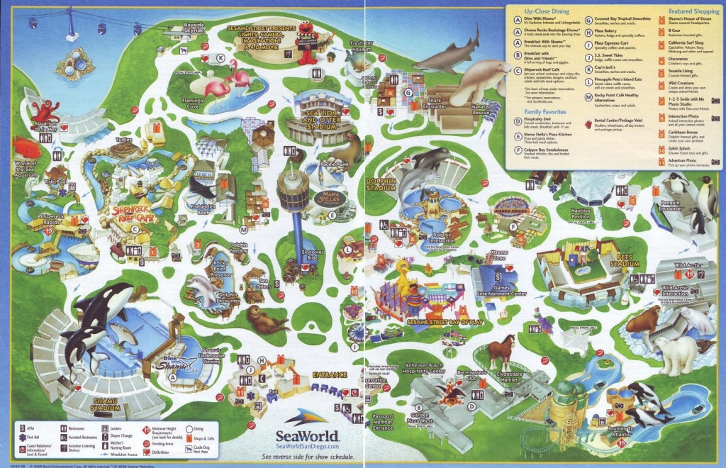 Pinterest - Seaworld San Diego Printable Map