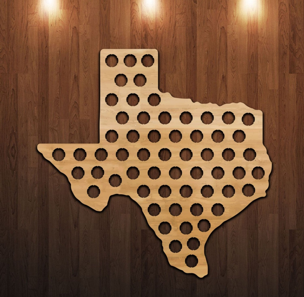 Pinthacker Jewelry On Father's Day Fun   Beer Bottle Caps, Beer - Texas Beer Cap Map