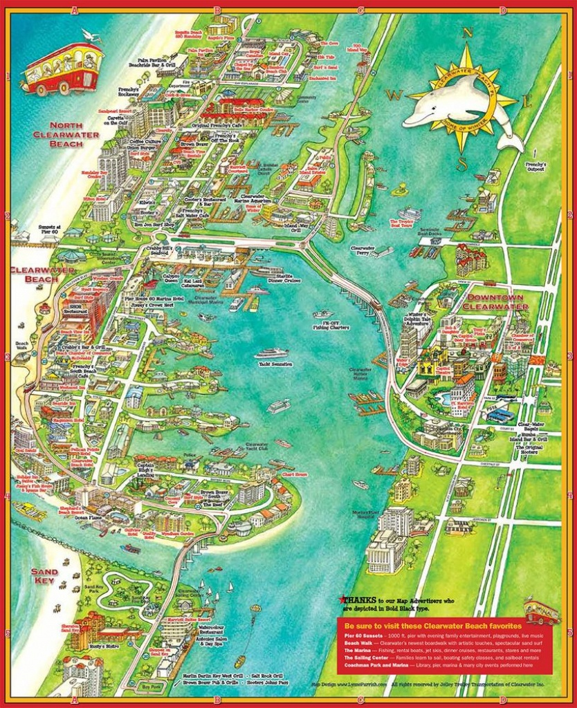 Pintracey Marshall On Vacation - Clearwater Beach Florida On A Map