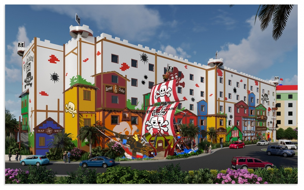 Pirate Island - Legoland Florida Hotel Map