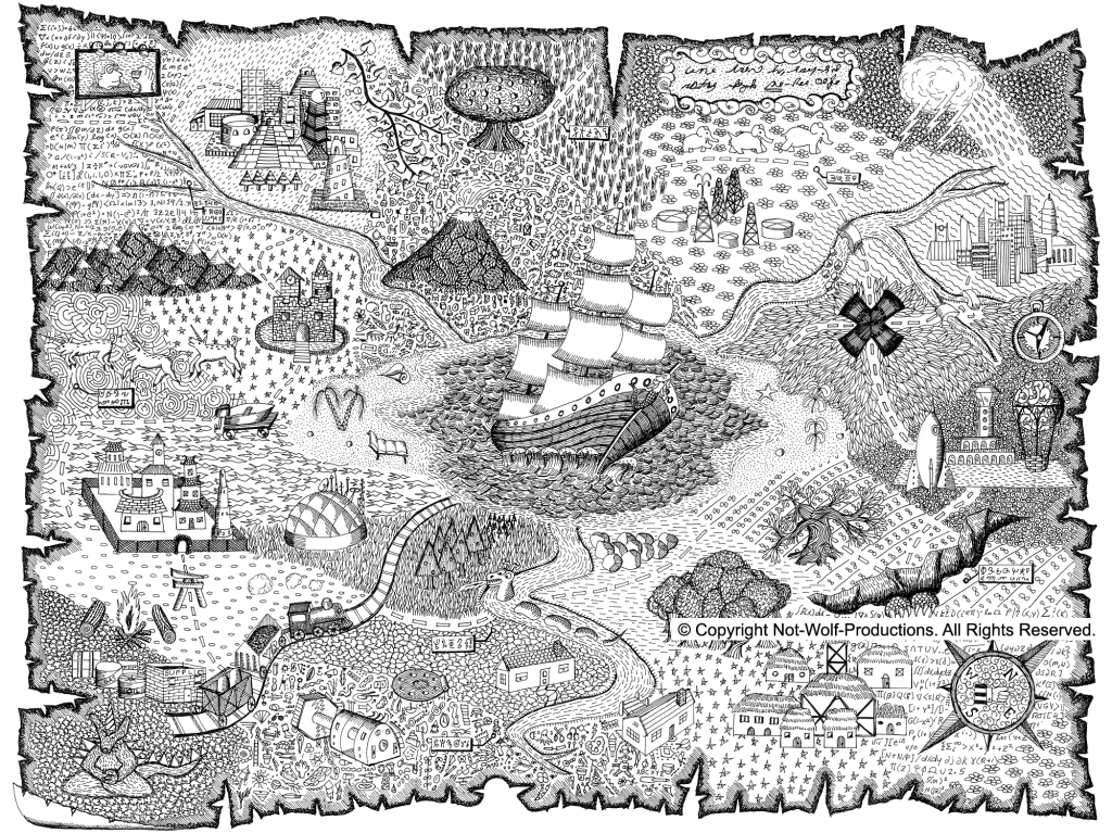 Pirate Map Coloring Pages Printable - Coloring Home - Printable Pirate Maps To Print