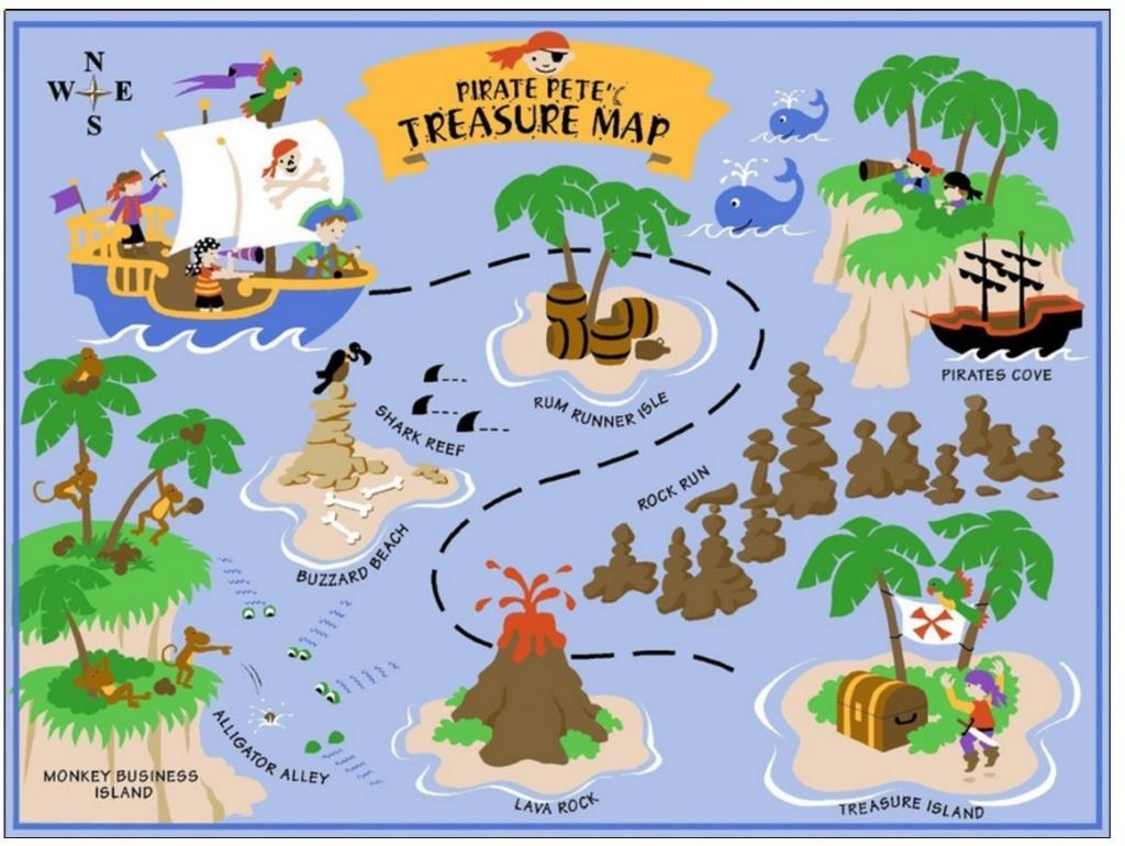 Pirates Treasure Map A4 Cake Topper Full A4 Sheet Edible Wafer Paper - Free Printable Treasure Map