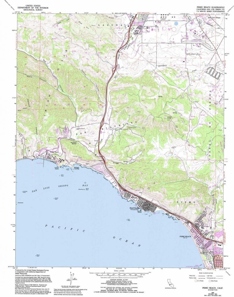 Pismo Beach Topographic Map, Ca - Usgs Topo Quad 35120B6 - Pismo Beach California Map