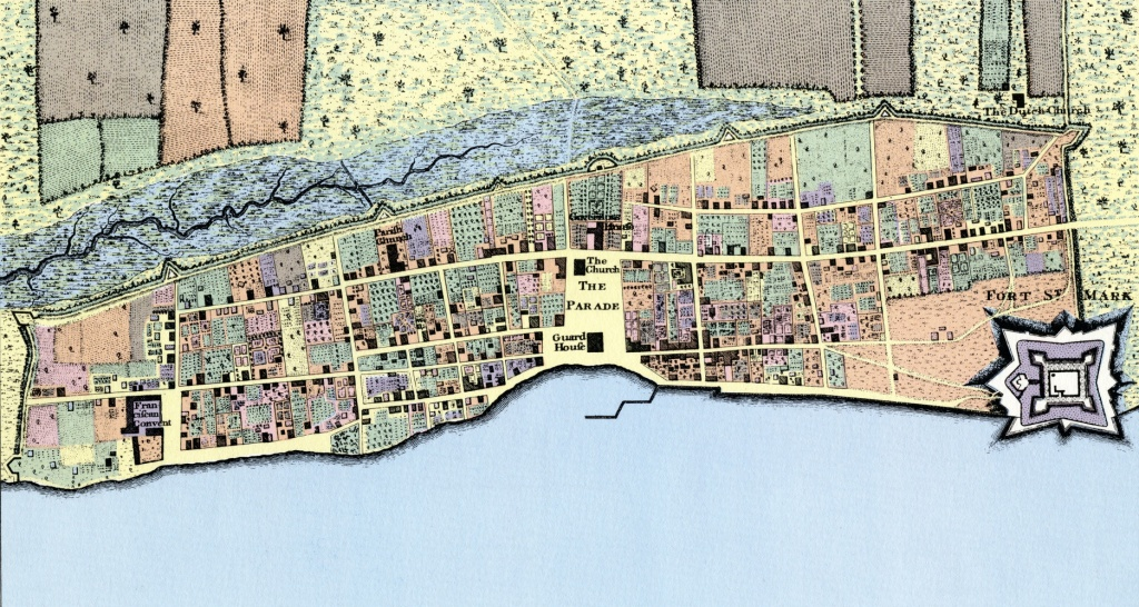 Plan Of The Town Of St. Augustine, Florida From 1769 - Knowol - St Augustine Florida Map