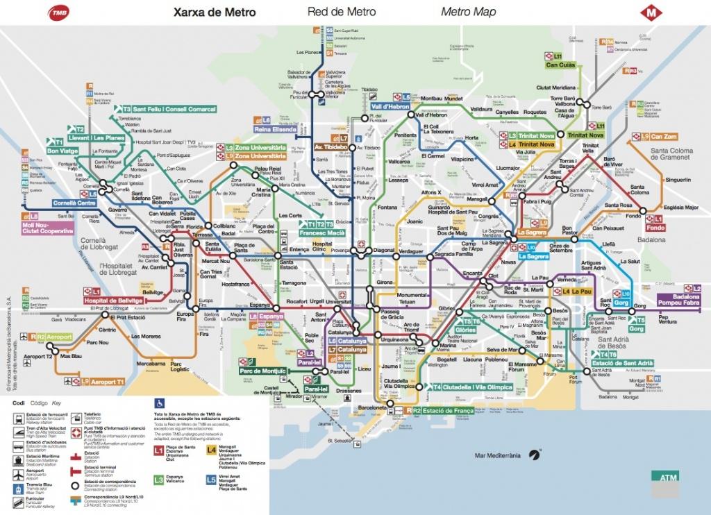 Plano De Metro De Barcelona 2019 - Barcelona Metro Map Printable