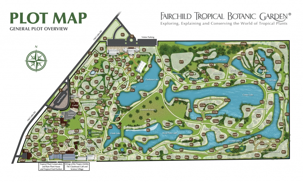 Plant Database Of Living Plants At Fairchild Tropical Garden - Florida Botanical Gardens Map