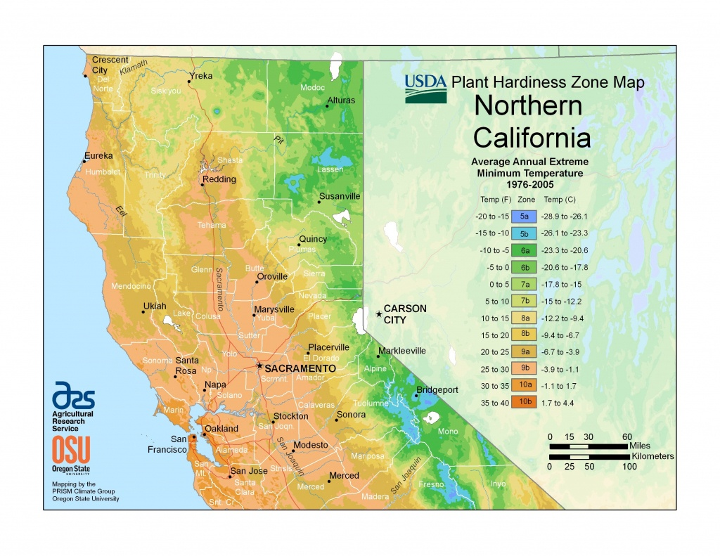Plant Hardiness For Northern California | Permaculture Design Tips - Plant Zone Map California